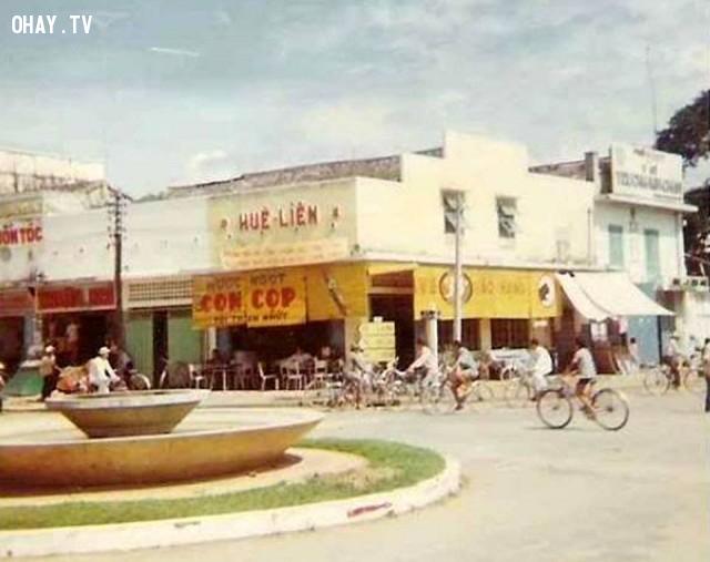 Bùng binh trung tâm Bến Tre 1967,Bến Tre xưa,Xứ dừa,hình xưa,ảnh cổ,ảnh lịch sử