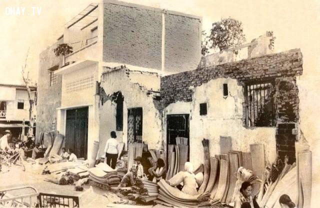 Chợ Trúc Giang - Khu vực chợ Hàng chiếu năm 1969,Bến Tre xưa,Xứ dừa,hình xưa,ảnh cổ,ảnh lịch sử