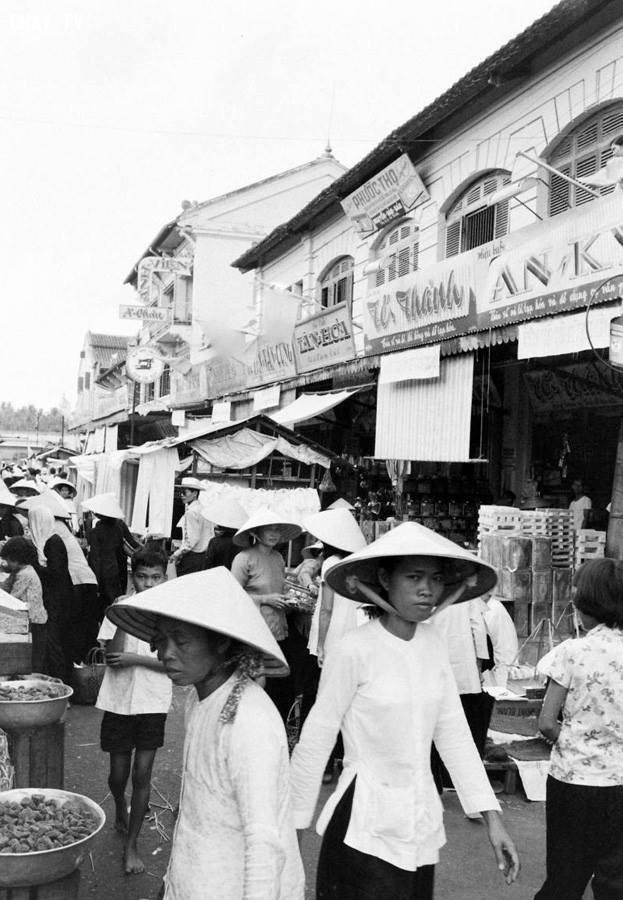 Chợ Bến Tre 1961,Bến Tre xưa,Xứ dừa,hình xưa,ảnh cổ,ảnh lịch sử