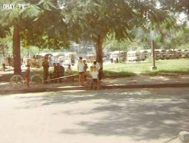 Bến xe lam ngã ba Tháp 1967,Bến Tre xưa,Xứ dừa,hình xưa,ảnh cổ,ảnh lịch sử