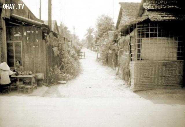 Lộ số 4 - phía đường Nguyễn Huệ đi qua đường Trần Quốc Tuấn,Bến Tre xưa,Xứ dừa,hình xưa,ảnh cổ,ảnh lịch sử