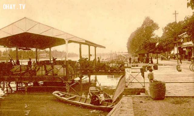 Bến lở thời Pháp,Bến Tre xưa,Xứ dừa,hình xưa,ảnh cổ,ảnh lịch sử