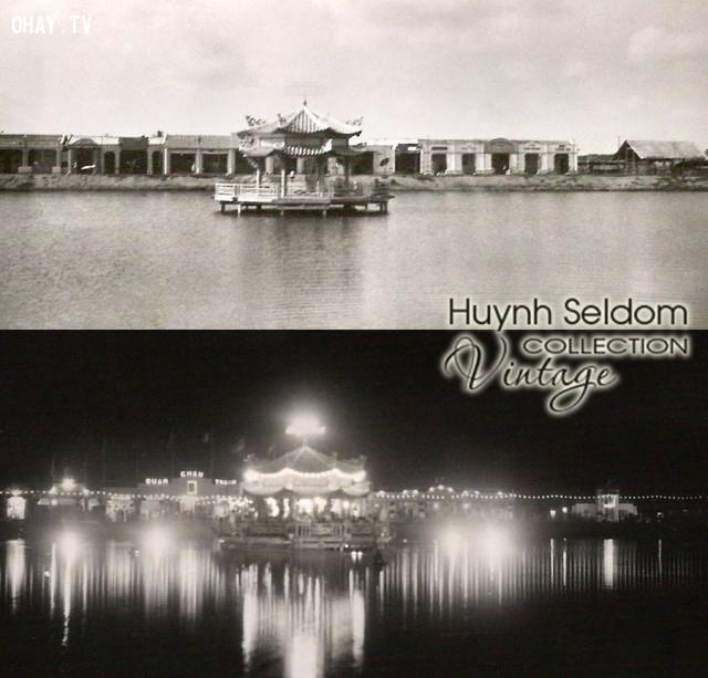 Hồ Chung Thủy (hồ Trúc Giang) ngày và đêm - năm 1930 (cách nay 86 năm),Bến Tre xưa,Xứ dừa,hình xưa,ảnh cổ,ảnh lịch sử