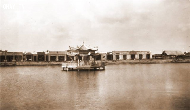 Nhà thủy tạ hồ Chung Thủy (Trúc Giang),Bến Tre xưa,Xứ dừa,hình xưa,ảnh cổ,ảnh lịch sử