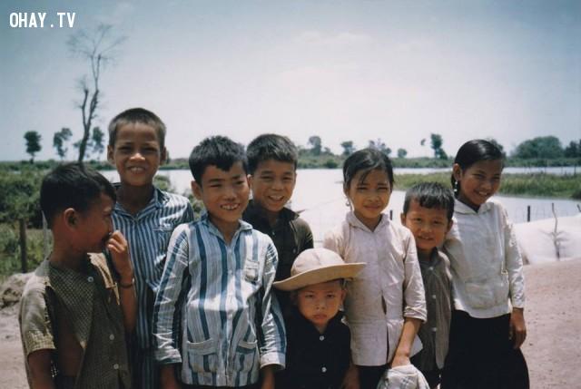 Trẻ em miền Nam 1964,Bến Tre xưa,Xứ dừa,hình xưa,ảnh cổ,ảnh lịch sử