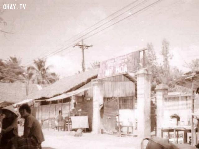 Trường THCS Mỹ Hóa cũ, khoảng năm 1992,Bến Tre xưa,Xứ dừa,hình xưa,ảnh cổ,ảnh lịch sử