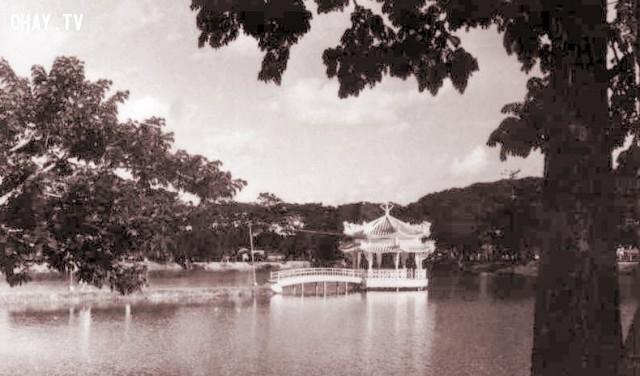 Nhà thủy tạ hồ Chung Thủy,Bến Tre xưa,Xứ dừa,hình xưa,ảnh cổ,ảnh lịch sử
