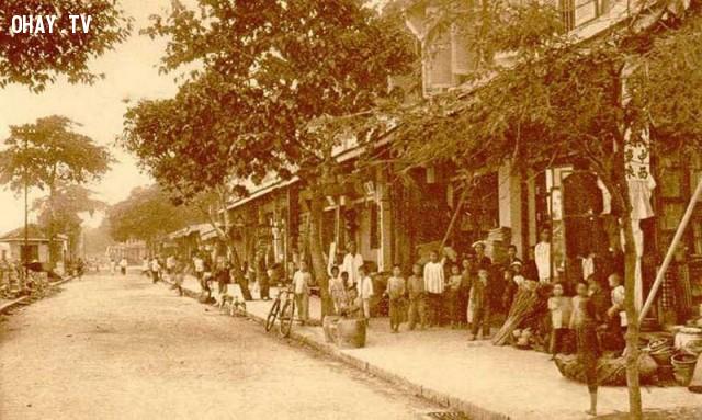 Đường Hùng Vương - Bến lở thời Pháp đầu thế kỷ 20,Bến Tre xưa,Xứ dừa,hình xưa,ảnh cổ,ảnh lịch sử
