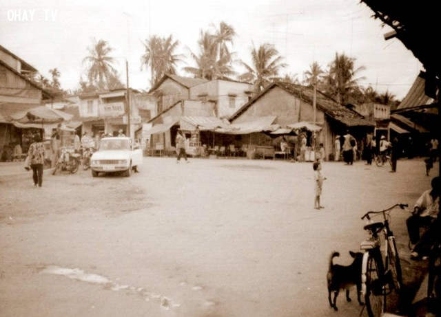 Bến phà Hàm Luông, phía Vàm phường 7, khoảng năm 1992,Bến Tre xưa,Xứ dừa,hình xưa,ảnh cổ,ảnh lịch sử