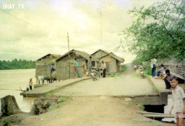 Cầu Kiến Vàng những năm 1995,Bến Tre xưa,Xứ dừa,hình xưa,ảnh cổ,ảnh lịch sử