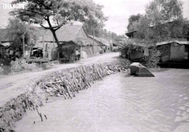 Trường Mỹ Hóa, khoảng năm 1992,Bến Tre xưa,Xứ dừa,hình xưa,ảnh cổ,ảnh lịch sử