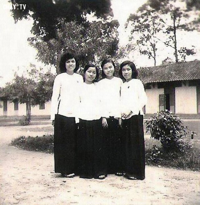 Sân trường Phan Thanh Giản,Bến Tre xưa,Xứ dừa,hình xưa,ảnh cổ,ảnh lịch sử
