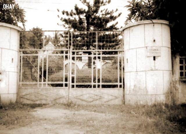 Cổng Villa Trần Quế Tử - 1990,Bến Tre xưa,Xứ dừa,hình xưa,ảnh cổ,ảnh lịch sử