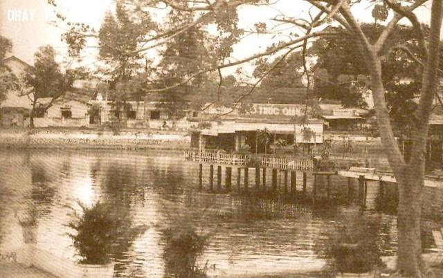 Nhà thủy tạ hồ Trúc Giang,Bến Tre xưa,Xứ dừa,hình xưa,ảnh cổ,ảnh lịch sử