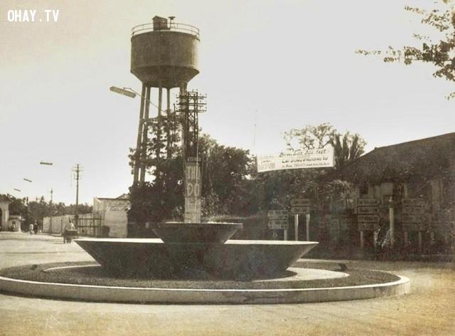 Vòng xoay trung tâm TP Bến Tre,Bến Tre xưa,Xứ dừa,hình xưa,ảnh cổ,ảnh lịch sử