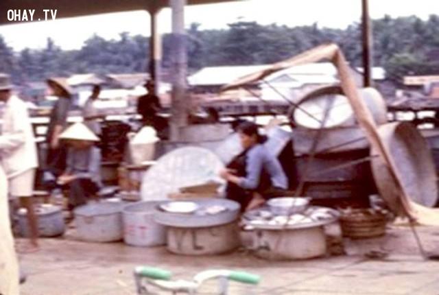 Một góc chợ cá bến lở 1967,Bến Tre xưa,Xứ dừa,hình xưa,ảnh cổ,ảnh lịch sử
