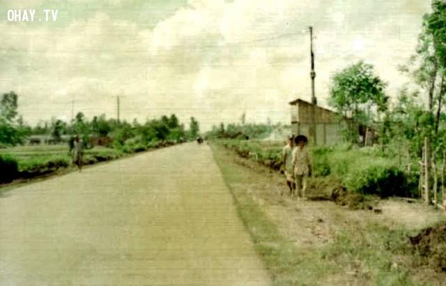 Ngã 3 Tân Thành nhìn về hướng phà Rạch Miễu,Bến Tre xưa,Xứ dừa,hình xưa,ảnh cổ,ảnh lịch sử