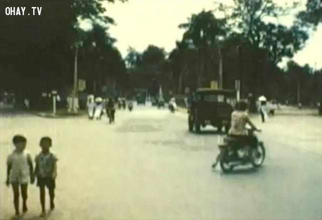 Ngã ba Tháp 1966,Bến Tre xưa,Xứ dừa,hình xưa,ảnh cổ,ảnh lịch sử