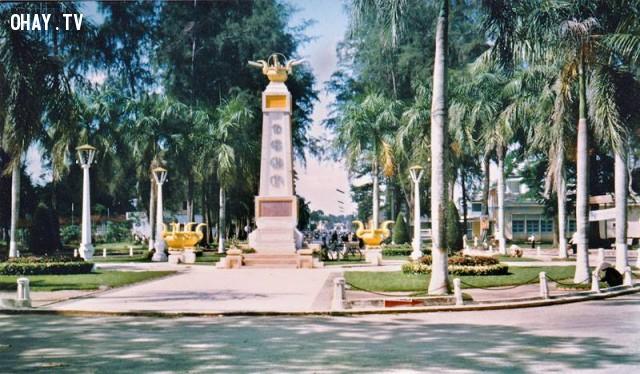 Ngã ba Tháp 1964,Bến Tre xưa,Xứ dừa,hình xưa,ảnh cổ,ảnh lịch sử