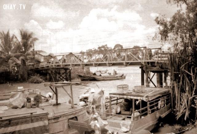 Cầu Cái Cối ,Bến Tre xưa,Xứ dừa,hình xưa,ảnh cổ,ảnh lịch sử