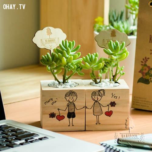 9. Vật dụng trang trí cặp đôi dễ thương,valentine,tình yêu,người yêu,tuyệt vời,quà valentine