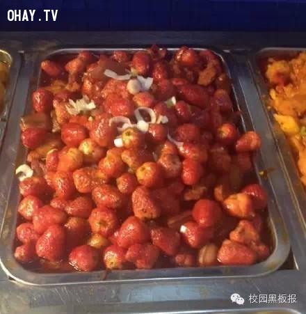 Dâu tây...,món ăn,kỳ lạ