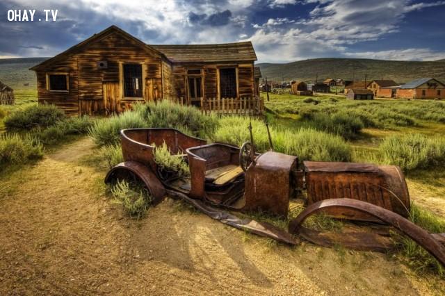 1. Thị trấn ma Bodie tại California, Mỹ,địa điểm bí ẩn,địa điểm bị bỏ hoang