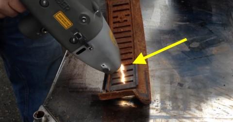 Loại bỏ gỉ sét nhanh chóng bằng công nghệ laser