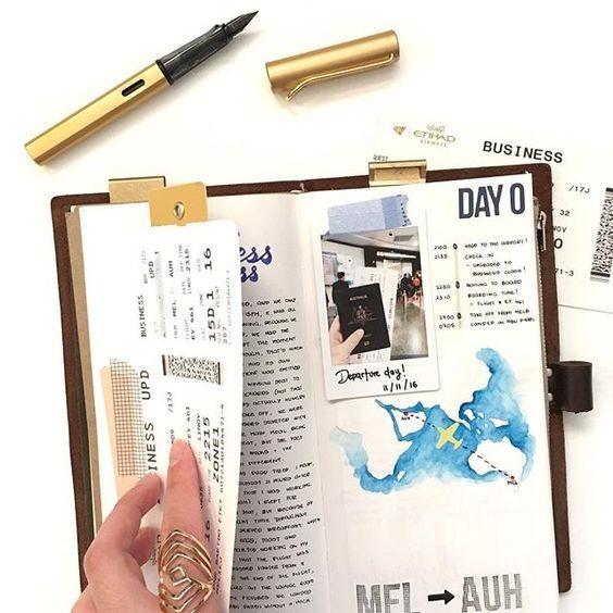 Ghi chép và lên kế hoạch để thông báo cho một người bạn,du lịch một mình
