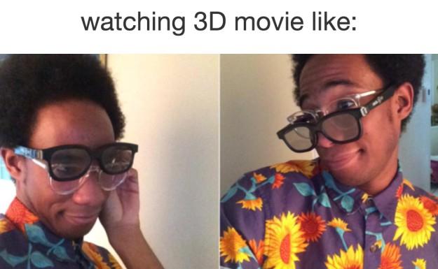 Khi xem phim 3D,cận thị,nỗi khổ đeo kính