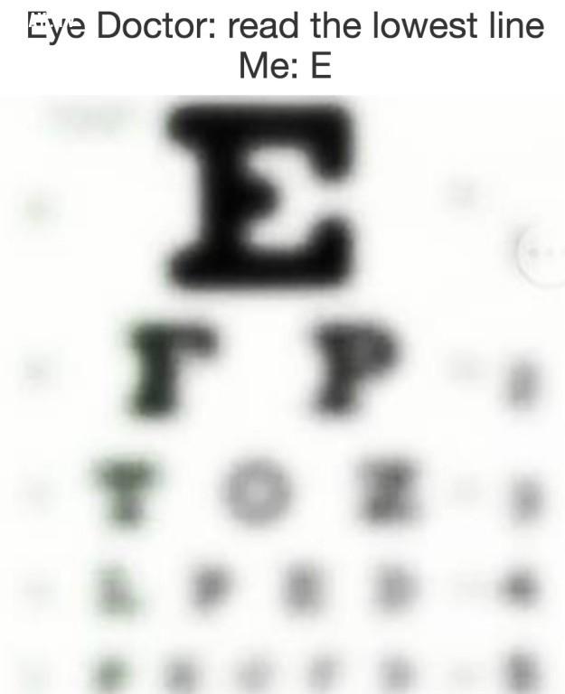 """Bác sĩ: """"hãy đọc dòng thấp nhất có thể nhìn được"""" - tôi: """"E"""",cận thị,nỗi khổ đeo kính"""
