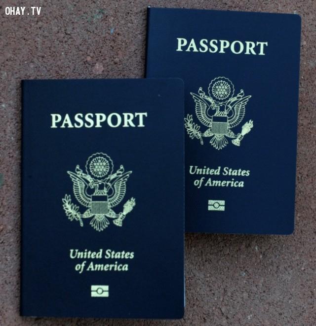 Hộ chiếu màu xanh navy,hộ chiếu,passport,màu sắc