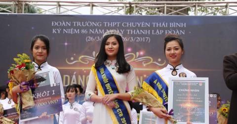 Vẻ đẹp ngọt ngào của nữ sinh THPT Chuyên Thái Bình trong cuộc thi 'Charm of CTB'