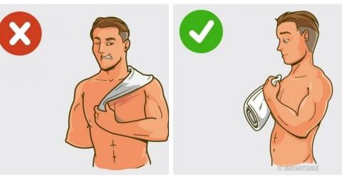 5 điều chúng ta vẫn làm sai mỗi ngày trong khi tắm