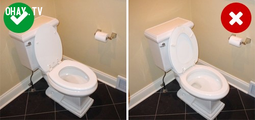 8. Nam giới đi vệ sinh xong nên để bệ ngồi bồn cầu như thế nào?,mẹo hay,thói quen sai