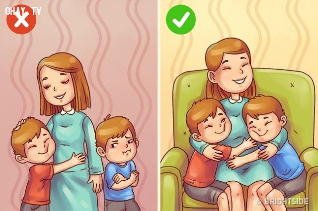Tị nạnh với anh/chị/em.,nuôi dạy con cái,cách dạy con
