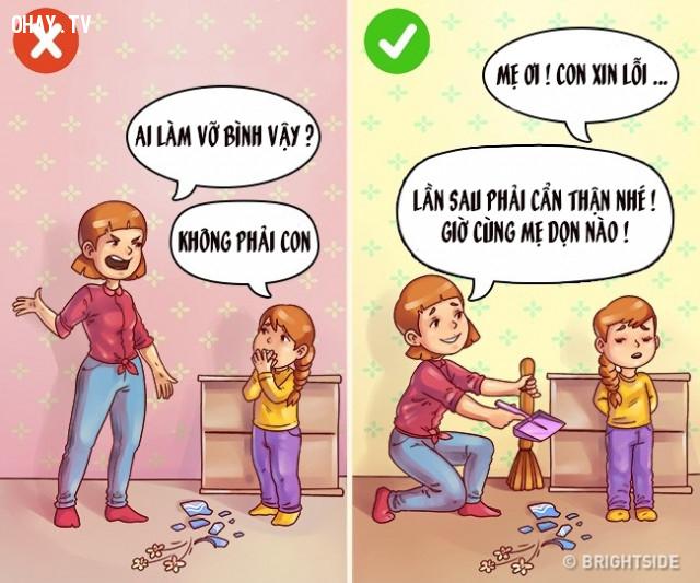 Không trung thực.,nuôi dạy con cái,cách dạy con