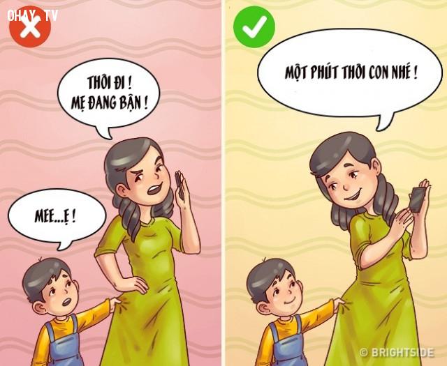 Nhõng nhẹo,nuôi dạy con cái,cách dạy con