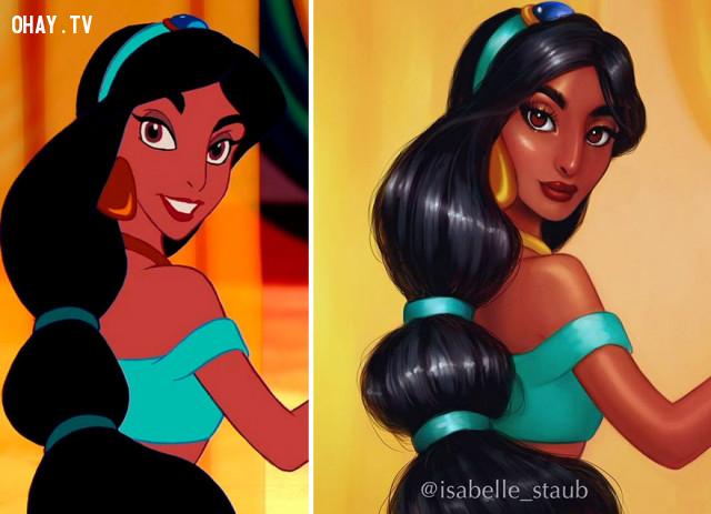 #7 Công chúa Jasmine, phim Aladdin,công chúa disney,nhân vật hoạt hình