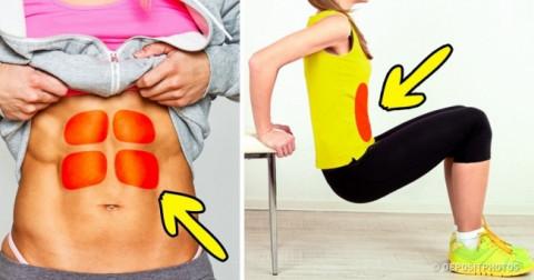 5 cách để có cơ bụng hoàn hảo chỉ với một chiếc ghế