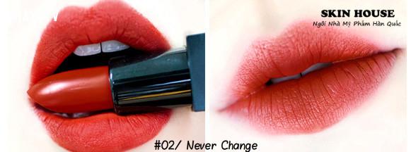 2. Agapan Pit A Pat Matte Lipstick - màu 02 Never change- Giá 170.000đ,son môi,son màu đỏ gạch,son môi nào tốt
