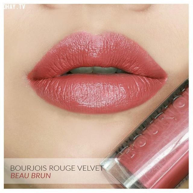 4. Son kem Bourjois-Velvet - màu 12 Beau Brun - Giá 250.000đ ,son môi,son màu đỏ gạch,son môi nào tốt