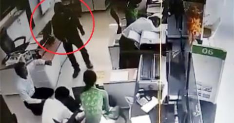 Cướp đột nhập ngân hàng tại Trà Vinh lấy đi hơn 2 tỷ