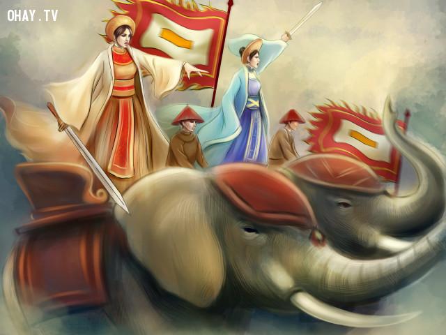 Hai Bà Trưng,anh hùng dân tộc,lịch sử việt nam