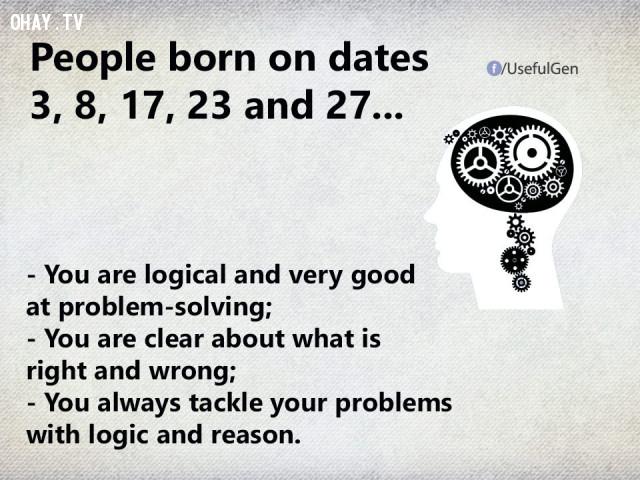 3. Nếu bạn sinh vào ngày 3, 8, 17, 23 và 27 thì...,trắc nghiệm tính cách