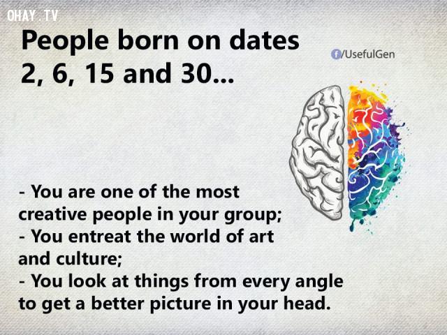 2. Nếu bạn sinh vào ngày 2, 6, 15 và 30 thì...,trắc nghiệm tính cách