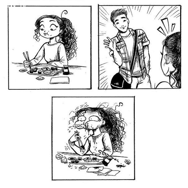 #3. Khi crush của bạn nói chuyện với bạn, thì khả năng nói chuyện của bạn giảm đi nhìn thấy, đơn giản bạn chẳng thể biểu hiện bất kỳ dấu hiệu thông minh nào của mình,