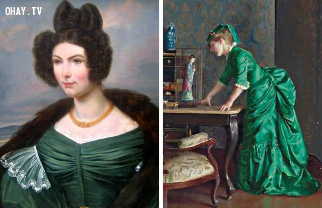 Thời kì Victoria: đầm xanh ,làm đẹp kinh dị,tiêu chuẩn cái đẹp