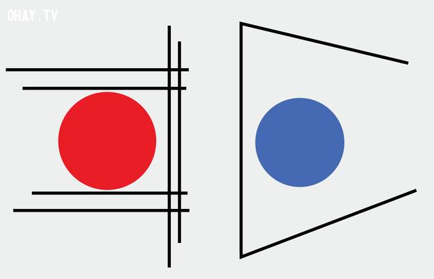 1. Hình tròn nào lớn hơn?,trắc nghiệm thị giác,thử tài tinh mắt