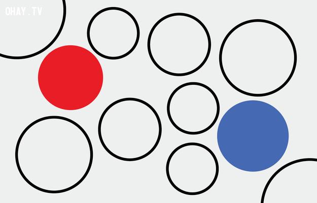 7. Hình tròn nào lớn hơn?,trắc nghiệm thị giác,thử tài tinh mắt